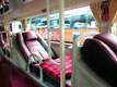 Interior picture of Vehicle Type 4: Operated by TM Camel, Hanh Cafe or Huynh Gia. All use air-conditioned 35 berth sleeper buses.