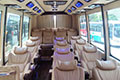 Interior picture of Bus Type 12: 16 seater air-conditioned limousine buses with very comfortable reclining seats, free wifi and a USB charger